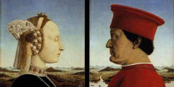 piero double portrait of the dukes of urbino